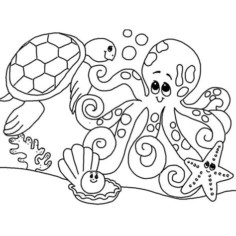 free coloring pages underwater animals cute sea animals coloring pages getcoloringpages com