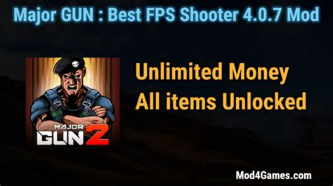 major mod apk major gun 4 0 7 unlimited money mod apk free archives mod4games