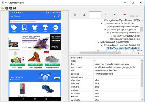 inspect element android how to use uiautomatorviewer to inspect elements for mobile automation loginworks softwares