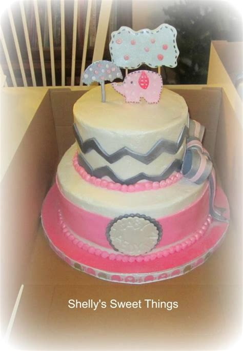 pink elephant baby shower cake pink elephant baby shower cake by shelly s sweet things