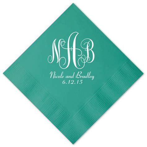 Personalized Napkins - 100 personalized napkins wedding napkins custom monogram