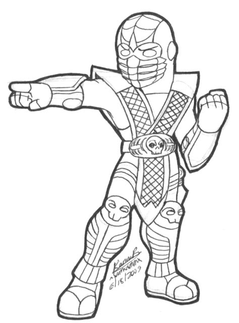 mortal kombat coloring pages only coloring pages