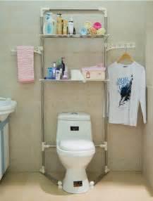 Over the toilet bathroom organizer storage shelf bath towel rack