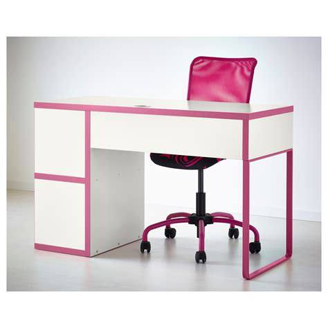 pink and white desk ikea micke desk pink best home design 2018