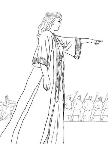 Deborah the Prophetess coloring page | SuperColoring.com