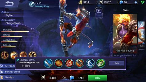 mobile legend build sun jungle attack damage build 2019 mobile legends