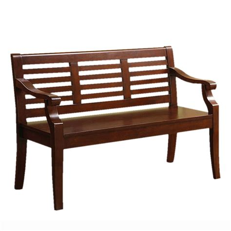 lowes entryway bench shop furniture of america angelle dark cherry indoor