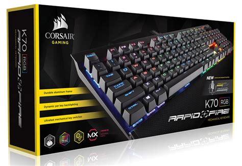 Keyboard Gaming Corsair K70 Rapidfire Cherrymx Speed Black Color Ch corsair intros trio of rapidfire cherry mx speed keyboards peripherals news hexus net