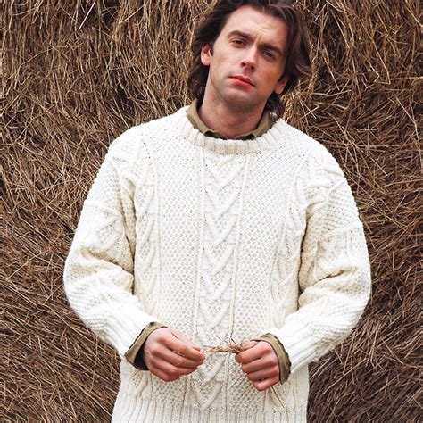 mens aran jumper knitting patterns knit a real s classic free aran jumper knitting pattern