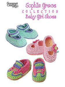 Gourmet crochet sophia grace collection baby girl shoes pattern at