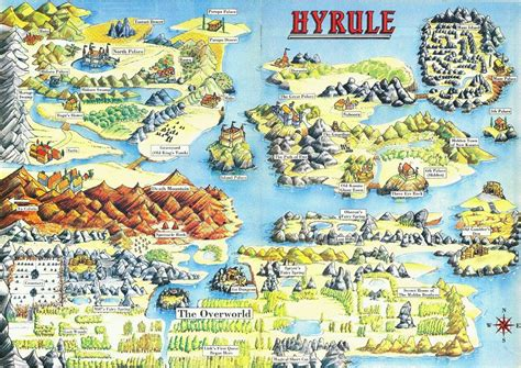 legend of zelda world map zelda capital maps of hyrule