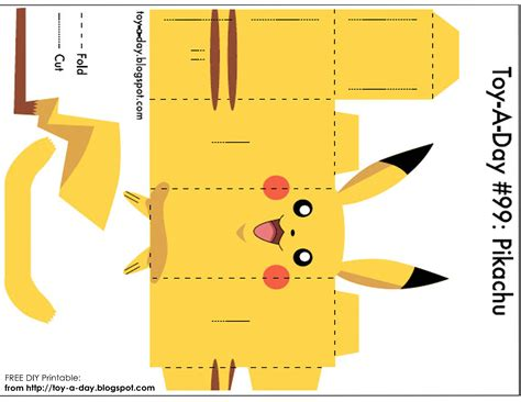 How To Make A Poster Out Of Paper - diy printable paper box pocket pikachu pikachu