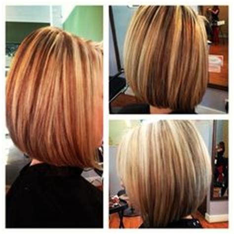 hairstyles layers with blended highlights lowlights angled bob short hair blonde highlights and lowlights my