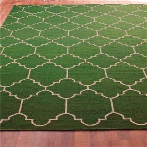 green rug moroccan tile dhurrie rug emerald green and taupe mediterranean rugs by shades of light
