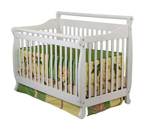 Drop Side Rail Crib by On Me 4 In 1 Liberty Convertible Crib White Baby