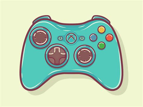 Drawing Xbox Controller by Xbox 360 Controller Illustration Xbox 360