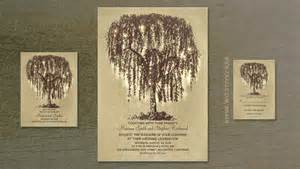 Wedding Card For Groom Read More Willow Tree And String Lights Wedding Invitation Wedding Invitations By Jinaiji