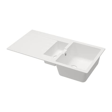H 196 Llviken 1 1 2 Bowl Insert Sink With Drainer Ikea Kitchen Sink Expression