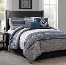 size bedroom comforter sets new luxurious 7 piece queen size bed comforter set bedroom bedding blue gray ebay