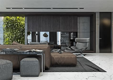 gray color palette interior design 4 masculine apartments with super comfy sofas and sleek