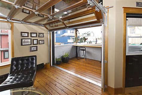 garage door living room ny loft style float home