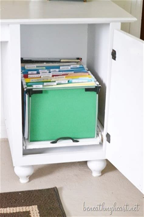 How To Make A File Cabinet Drawer Diy File Cabinet For My Office Beneath My Heart