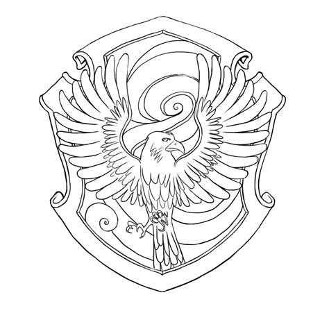 harry potter coloring pages ravenclaw free coloring pages of hogwarts house crests