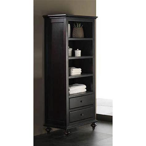 bathroom linen cabinet tower avanity merlot 24 inch linen tower in espresso finish