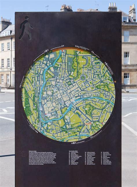 designboom urban furniture wayfinding system for city of bath by pearsonlloyd cityid