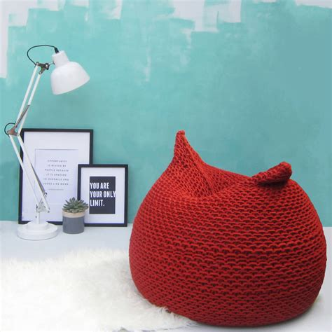 Knitted Bean Bag Knitted Bean Bag By