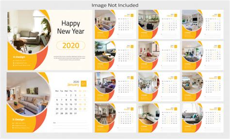 desk calendar  template design vector premium
