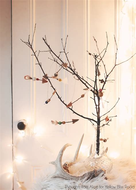 tree made of twigs diy rustic boho twig arrow ornaments