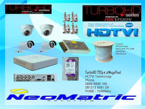 Paket Dvr 4 Channel 4 Turbo Hd Hd Mantap jual cctv turbohd hd720p from hikvision paket 4 channel neomatric security