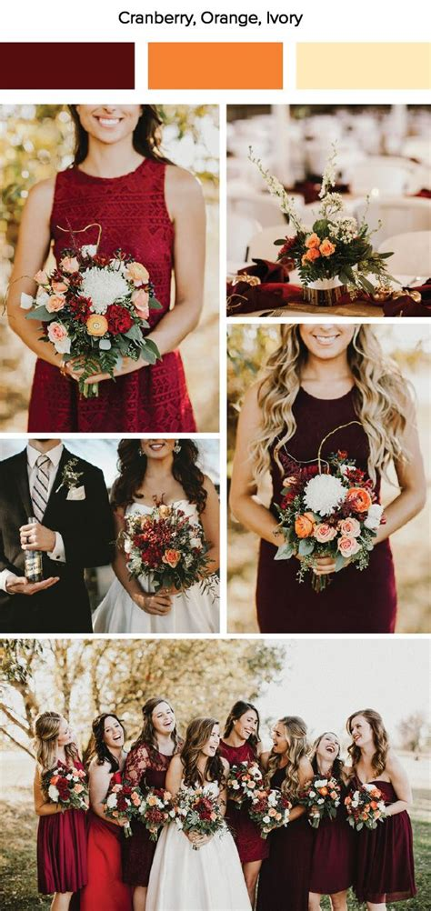 7 Wedding Trends by 7 Fall Wedding Color Palette Ideas Caign Content And