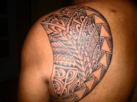 shoulder blade tattoo for men polynesian shoulder blade tattoos design for left