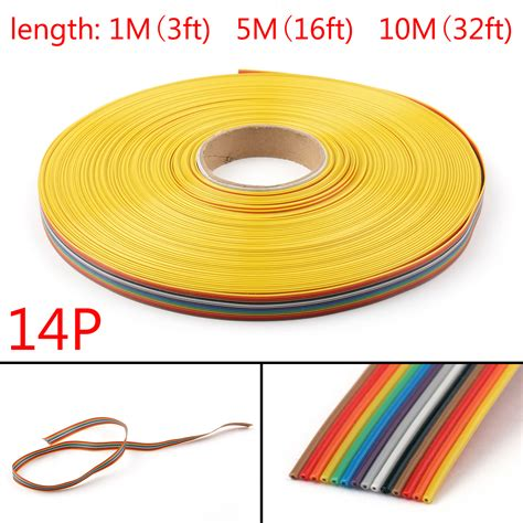 Fecrai Alloy Premium Highquality Awg 26 0 40 Kanthal Grade Serie 10 12 14 16 20 26 30 34 40pin color rainbow ribbon wire