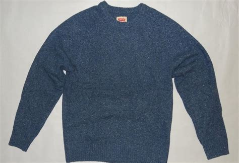 Hoodiejumpersweaterjacket Levis levi s 98 s jumper wool sweater blue neppy 0001 nwt s m l xl ebay