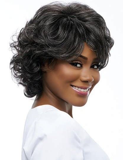 wigs for fifty year old 50 years old women grey rinka curly hairstyle wigs