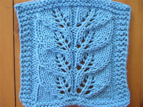 leaf pattern square twin leaf lace cloth smariek knits