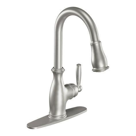 kitchen faucet sprayer moen 7185csl brantford pull sprayer kitchen faucet in stainless ppp limor avi depot much