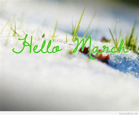 welcome march hello march march be pictures