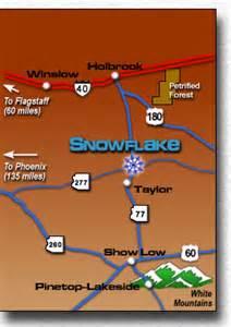 arizona s white mountains town of snowflake arizona