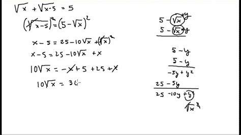 ecuaciones con raices cuadradas ecuacion irracional con dos ra 237 ces youtube