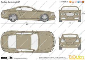 Bentley Continental Dimensions The Blueprints Vector Drawing Bentley Continental Gt