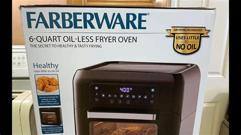 farberware qt oil  air fryer oven review  waffle