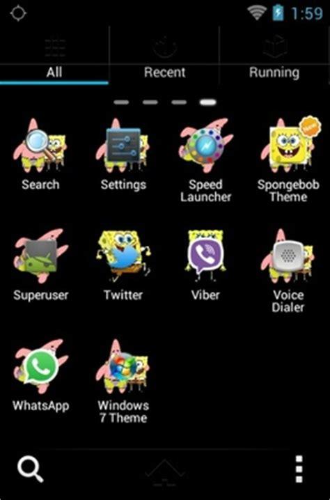 themes android spongebob spongebob squarepants android theme for go launcher