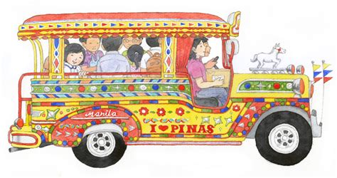 jeepney philippines drawing the all about the philippines bookmarked