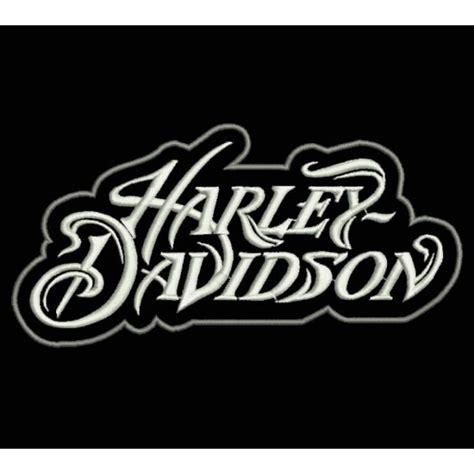 design font harley davidson embroidered patch harley davidson letters type 1