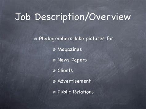 Photographer Description And Salary by Photography As A Career