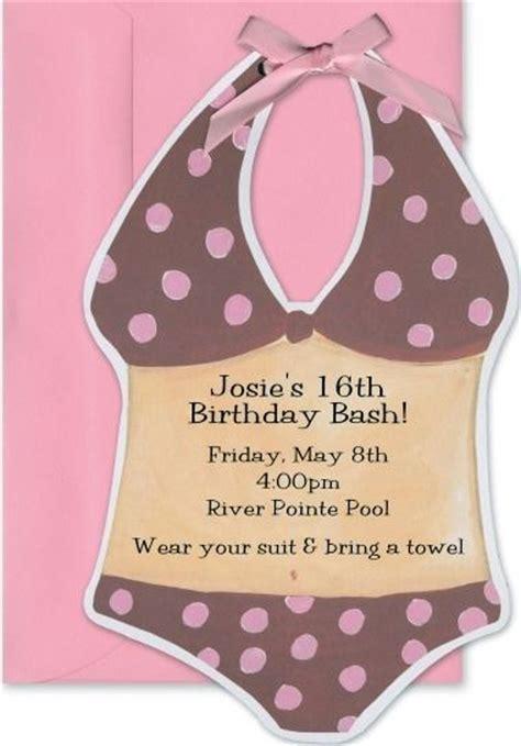 pool party birthday invitation water slide birthday invitations